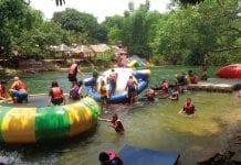 Enjoying the Kaeng Krachan Fresh Water Playground