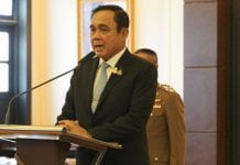 Thai PM Spoke to the Media